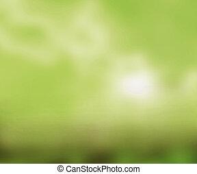 空, 緑のスペース