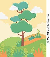 空, 群葉, 風景, 草木の栽培場, 葉, 自然, 木, イメージ