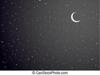空, 背景, 夜