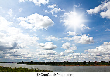 空, 雲, 太陽