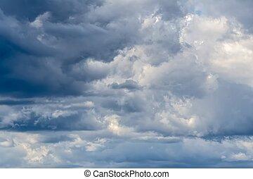 空, 雲, 雷雨