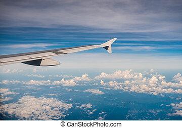 空, 飛行機, 光景