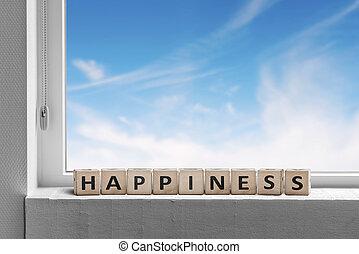 窓の下枠, 幸福, 印
