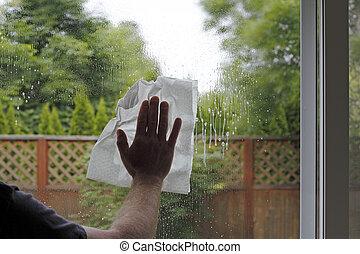 窓の 洗浄
