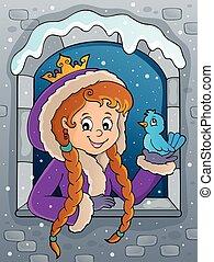窓, イメージ, 冬, 主題, 2, 王女