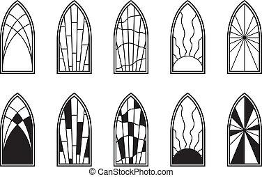 窓, ガラス, 汚された