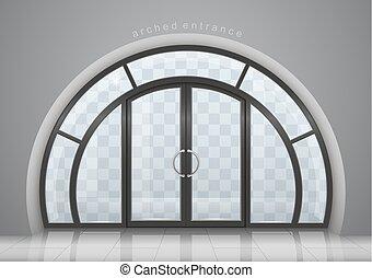 窓, ドア, アーチ形にされる