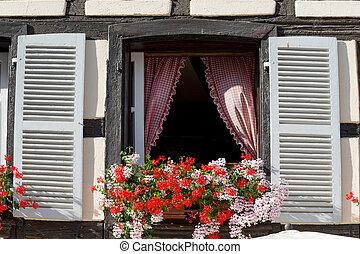 窓, 古い, フランス語