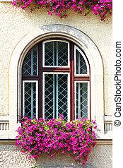 窓, 古い, 細部
