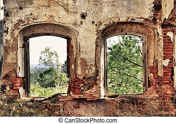窓, 古い, 2
