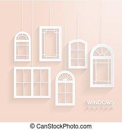 窓, 家, セット