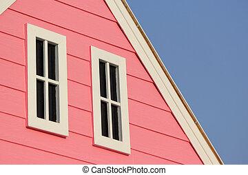 窓, 家, 切妻屋根, 木製である