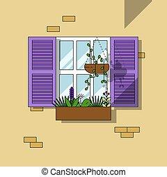 窓, 建築である, 背景, 要素