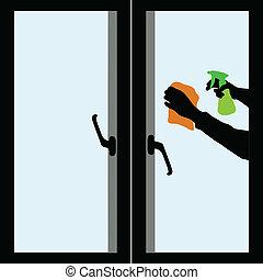 窓, 清掃