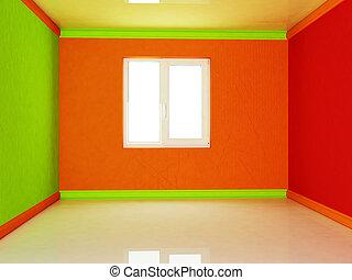 窓, 部屋, カラフルである