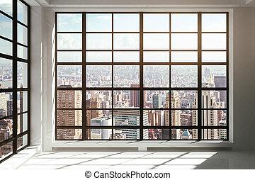 窓, 都市, 「天井への床」, 光景