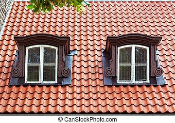 窓, roof.