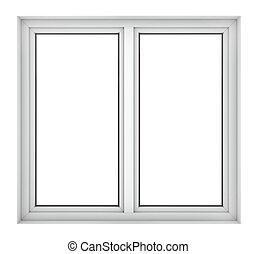 窗子框架, 塑料