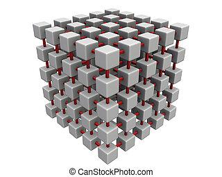 立方体, より小さい, 噛み合いなさい