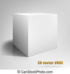 立方体, イラスト, ベクトル, テンプレート, 3d., あなたの, design.