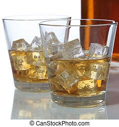 立方体, ウイスキー, 氷, ガラスビン, ∥あるいは∥, ウイスキー