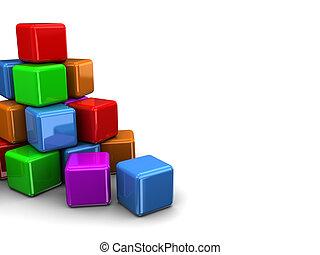 立方体, カラフルである