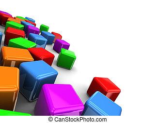 立方体, カラフルである, 背景