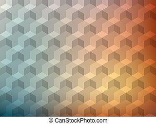 立方体, カラフルである, pattern., ボリューム, 現実的, ベクトル, デザイン, 背景, 幾何学的, texture., 3d