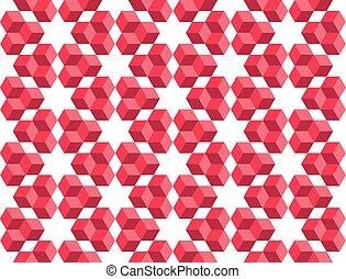 立方体, 幾何学, パターン, concept., seamless, イラスト, ベクトル