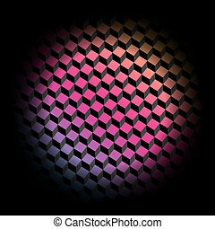 立方体, 有色人種, pattern., イラスト, ベクトル, 背景, 幾何学的