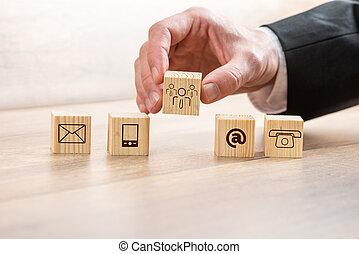 立方体, 木製である, シンボル, 連絡, 手配する, 人