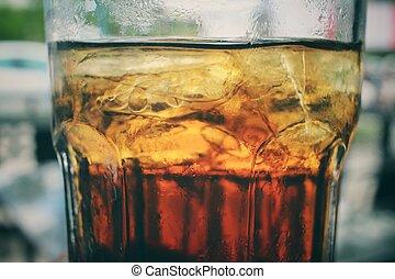 立方体, 氷, コーラ