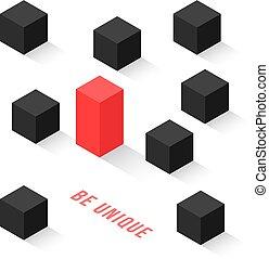 立方体, 独特, 等大, ありなさい, のように, 別