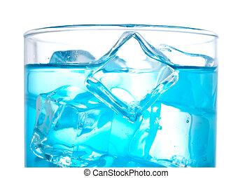 立方体, 細部, カクテル, 氷