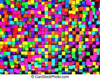 立方体, 背景, カラフルである