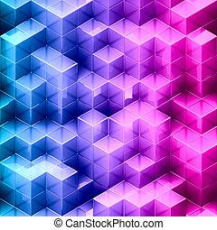 立方体, 背景, 勾配, 抽象的