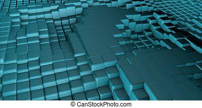立方体, 背景, 3d