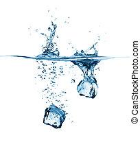 立方体, 落ちる, 2, 氷