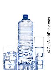 立方体, 鉱物, 氷 水, びん, ガラス