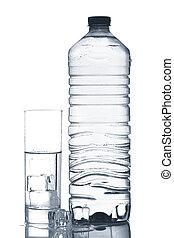 立方体, 鉱物, 氷 水, ガラスビン