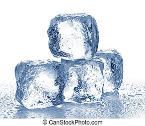 立方体, 隔離された, 氷, white.