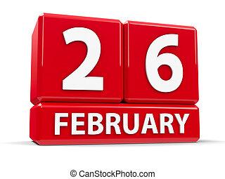 立方体, 26th, 2 月