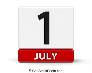 立方体, 7月, 第1, カレンダー