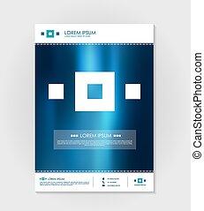 立方体, elements., ベクトル, デザイン, テンプレート, パンフレット