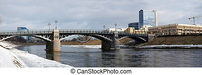 立陶宛語, 議會, 舊的橋, 以及, 河