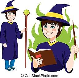站立, 巫術師, 年輕