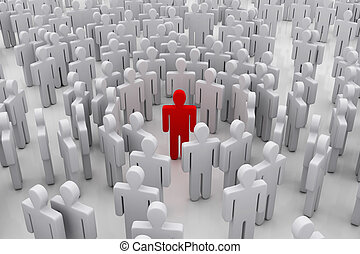 站立  從  人群