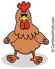 站立, 母雞