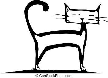 站, 小猫