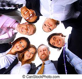 站, 挤作一团, 团体, 商务人士